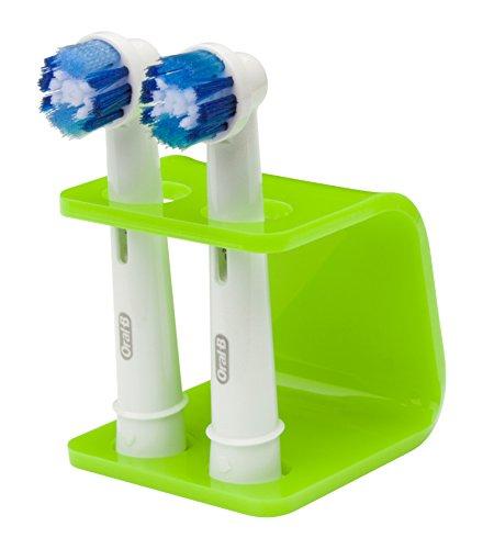 Seemii Zahnbürsten Halter für Oral-B Elektrische Zahnbürsten Köpfe, passen 2 oder 4 Köpfe, Grün Kalk (2 Köpfe)