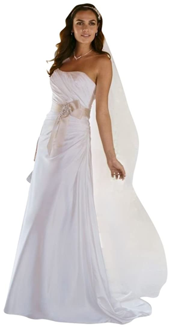SAMPLE Charmeuse Side-Drape Wedding Dress with Sash Style AI10020430