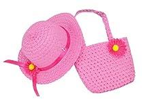 Simplicity Fashional Summer Buket Straw Hat & Satin Ribbon w/Flower