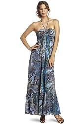 Anne Klein Women's Python-Print Maxi Dress