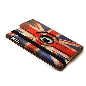 Neotechs® Stylish Retro Vintage GB Union Jack Flag 360° Rotating Leather Case iPad 2 3 4