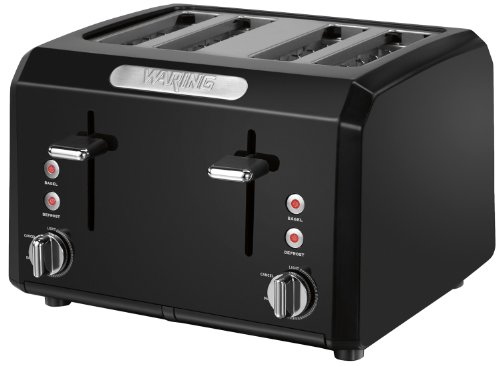 Sale!! Waring CTT400BK Professional Cool Touch 4-Slice Toaster, Black