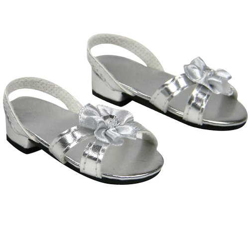 Silver Doll High Heels for 18