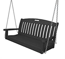 Hot Sale POLYWOOD NS48GY Nautical Swing, 48-Inch, Slate Grey