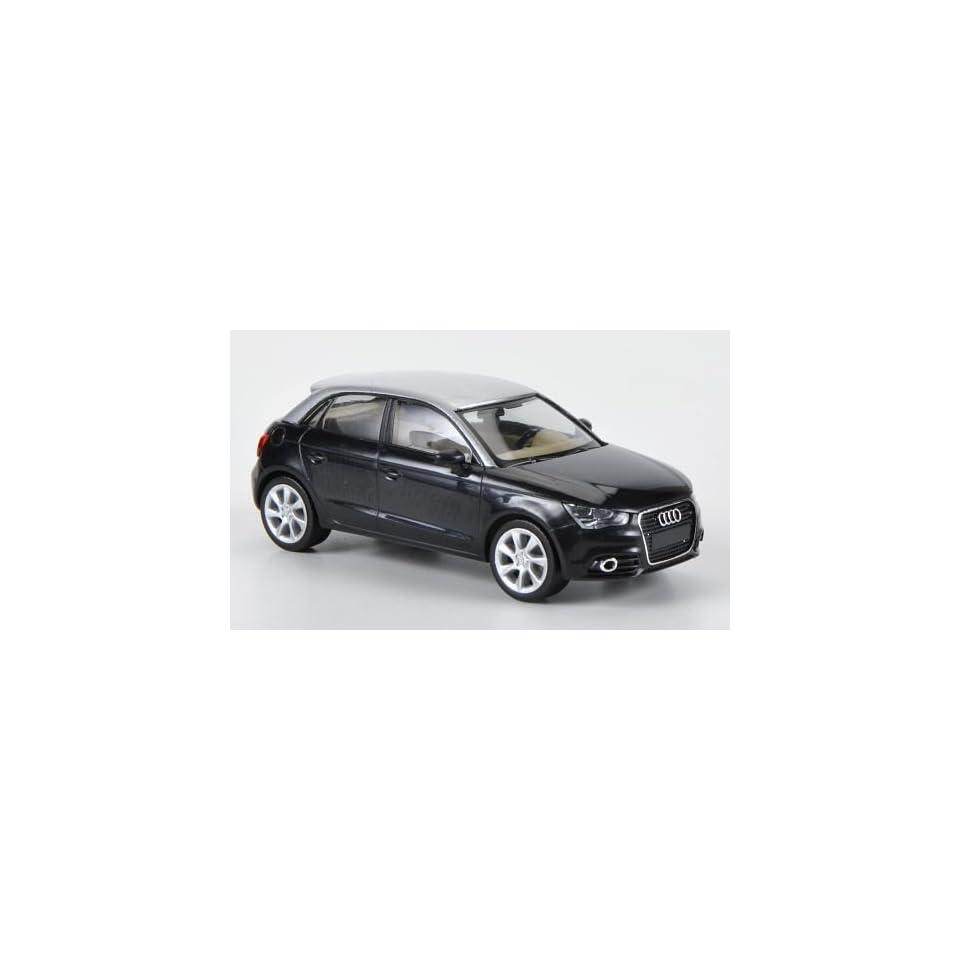 Audi A1 Sportback, schwarz/silber, Modellauto, Fertigmodell, Herpa 1