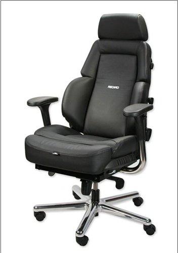Recaro Advantage Commander Leather Office Chair - Dark Blue/Black front-824022