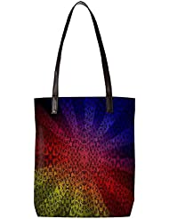 Snoogg Abstract Sun Rays Womens Digitally Printed Utility Tote Bag Handbag Made Of Poly Canvas With Leather Handle