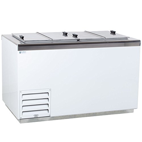 Excellence Hff-8 Stainless Steel Ice Cream Dipping Cabinet Freezer - 17.2 Cu. Ft. front-396043