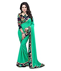 My online Shoppy Georgette Saree (My online Shoppy_63_Turquoise)