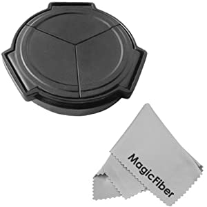 Auto Lens Cap For PANASONIC LUMIX DMC LX3 LX-3 + MagicFiber Microfiber Lens Cleaning Cloth
