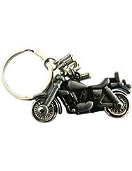 Techpro Royal Enfield Bike Model / Bullet Metal Keychain Silver Colour