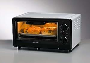 Miniofen mit nur 9 Liter Volumen. Extra kleiner Ofen mit stolzen 700 Watt Leistung! Ideal für Büro, Arbeitsplatz, Camping oder Zuhause als Zweitofen zum schnellen Aufbacken von Brötchen, zum überbacken und zum kochen von Fertiggerichten