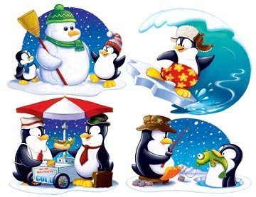 Penguin Cutouts Party Accessory (1 count) (4/Pkg)