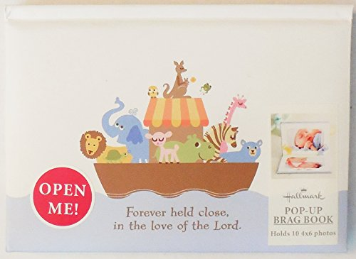 Hallmark Baby BBA3794 Noah's Ark Pop-Up 4 X 6 Slim Snapshot Album - 1