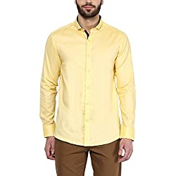 F Factor by Pantaloons Men's Shirt 205000005579100_Yellow_38