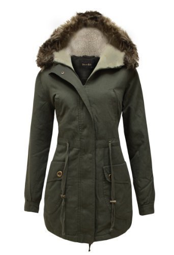 cexi couture parka femme manteau matelass doubl avec capuche fausse fourrure style militaire. Black Bedroom Furniture Sets. Home Design Ideas