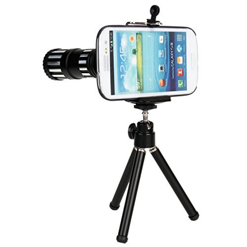 Great Value 12X Zoom Telephoto Lens Telephone Lens With Tripod For Samsung S3 I9300