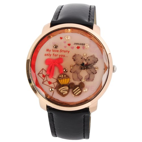 Yesurprise New Cuty Fashion PU Leather Jelly Silicone Lady Girls Casual Sport Wrist Watch for Graduation Party Gift Trendy #2