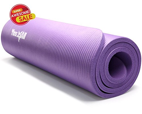 Yes4all Nbr Yoga Mat 10 Mm Extra Thick Pad Non Slip 68 X
