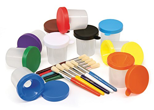 Creativity Street No-Spill Paint Cups and Brushes Set (AC5104) (Cup 2 Year compare prices)