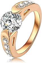 Comprar AnaZoz Joyería de Moda Anillos Para Mujer Real 18K Chapado en Oro Genuino AAA SWA Elements Cristal Austria Anillos