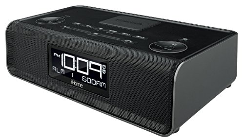 iHome iBN43BC Bluetooth Stereo Dual Alarmanlag FM Auer Radio an Speakerphone mat USB Opluedzäit