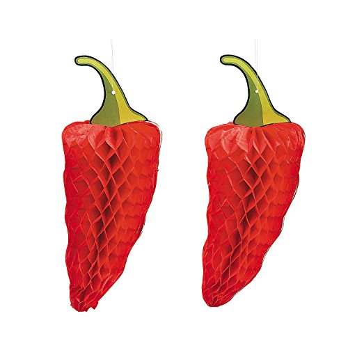 Cool Fun 3-9151 PaPer Chili PepPer Tissue Decorations - 3 Piece