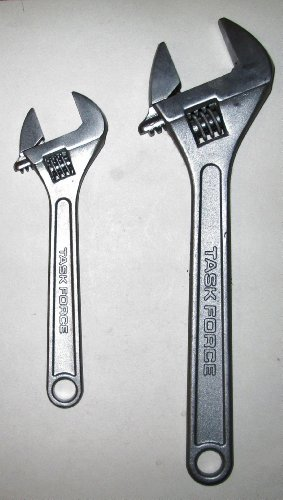 """Abc Products"" - {Final Close-Out} ~ 2 Piece - Heavy Adjustable Wrench Set ~ 8 Inch And 12 Inch - Drop Forged Steel (Most Frequently Used Tools - Great For Office, Work Shop, Auto And Home)"