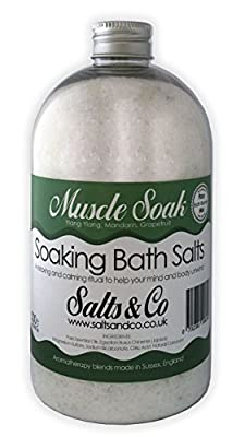 Muscle Soak Bath Salts - Let your body Relax - Ylang Ylang, Mandarin & Grapefruit Essential Oils - Salts & Co Aromatherapy Epsom Salts - 500g
