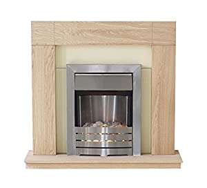 Adam Malmo Electric Fireplace Suite Oak with Helios Electric Fire, 2000 Watt  Adam       review and more information