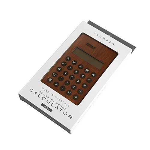 Lumber By Hacoa Pl004 W Solar Powered Calculator