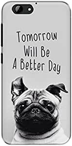 The Racoon Grip printed designer hard back mobile phone case cover for Htc One A9S. (happy pug)