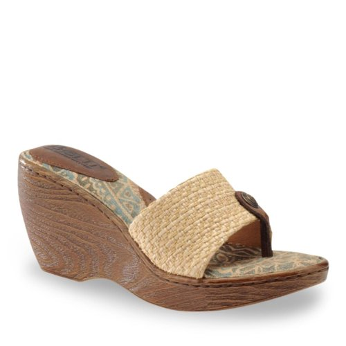 Born Women's Tweet Thong Sandals, MOCCA RAFFIA, 11 M/B