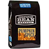Christopher Bean Coffee Flavored Whole Bean Coffee, Pumpkin Spice, 12 Ounce