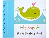 Baby First Year Memory Book - 52 Whimsical, Colorful Keepsake Pages, Linen Hardcover - First Moments, 12 Month Milestones, 5 Birthdays, Holidays,13 Blank Pages, and Storage Envelope for Extra Photos by Santa Barbara Specialties