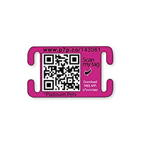 Platinum Pets The Original Smartphone Collar ID Dog Tag with GPS, Large, Pink