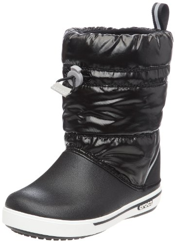 Crocs Junior Crocband Iridescent Gust Boot Black/White 12772-066-123 11 Child UK