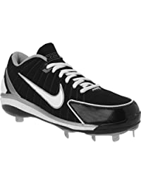 Nike Huarache 2k4 Low Black/White/Silver Baseball Cleats Men Size (11)