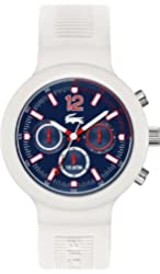 Lacoste 2010705 Mens Blue and White Borneo Chronograph Watch