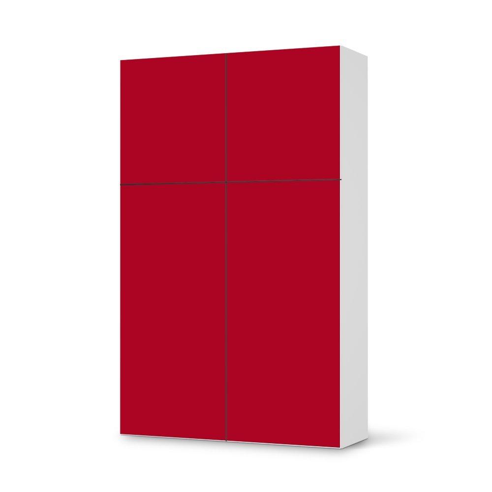 Folie IKEA Besta Schrank Hochkant 4 Türen (2+2) / Design Aufkleber Rot 1 / Dekorationselement online bestellen