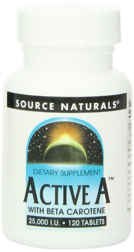 Source Naturals Active A With Beta Carotene 25,000Iu, 120 Tablets