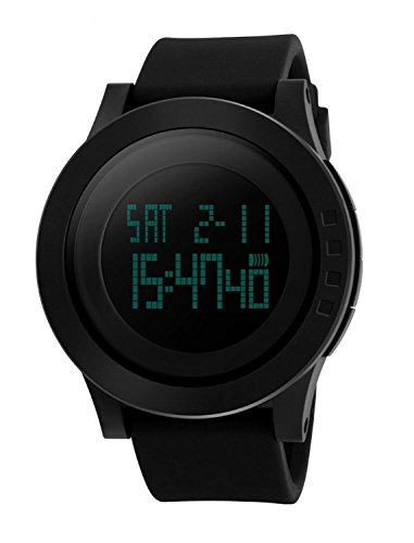 防水腕時計 メンズ led 腕時計 デジタル表示 ledライト付き アラーム ストップウォッチ機能 12/24時刻切替え