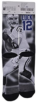 NFL Apparel Indianapolis Colts Team For Bare Feet Andrew Luck Player Sock 10-13