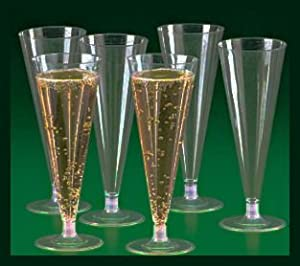 wholesale case of 300 champagne flutes plastic cups kitchen dining. Black Bedroom Furniture Sets. Home Design Ideas