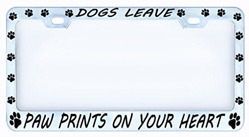 Paw Print License Plate Frames | Kritters in the Mailbox