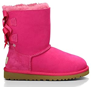 UGG Kids Bailey Bow Cerise Size 6