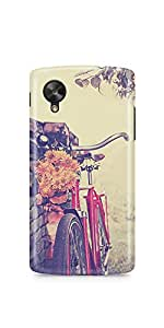 Casenation Vintage Red Bicycle LG Nexus 5 Glossy Case
