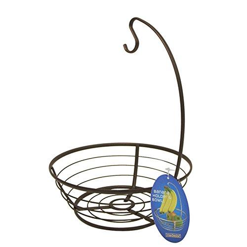 InterDesign Axis Fruit Bowl with Banana Hanger, Bronze