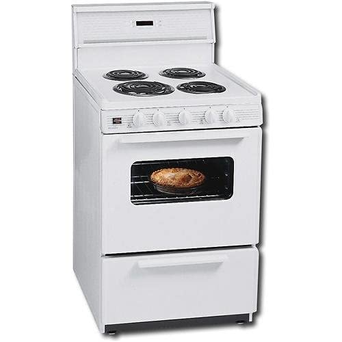 premier 24 inch compact electric range w standard clean oven white. Black Bedroom Furniture Sets. Home Design Ideas
