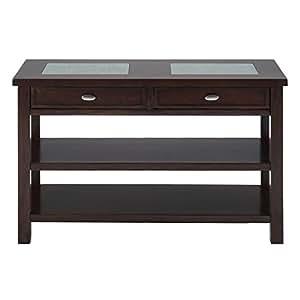 Jofran sofa table tv stand in chadwick espresso for Sofa table tennis